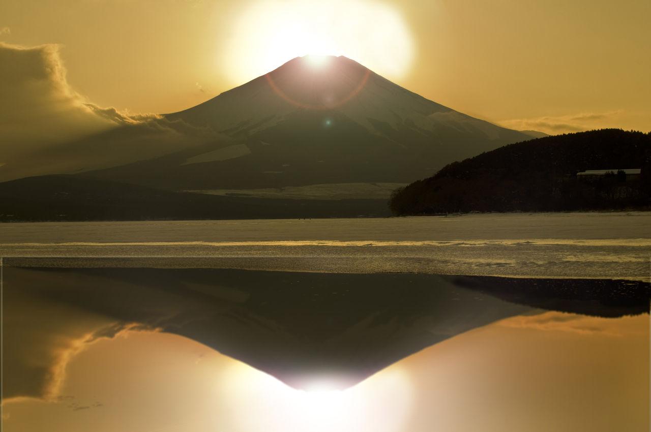 開運の日の出 富士山